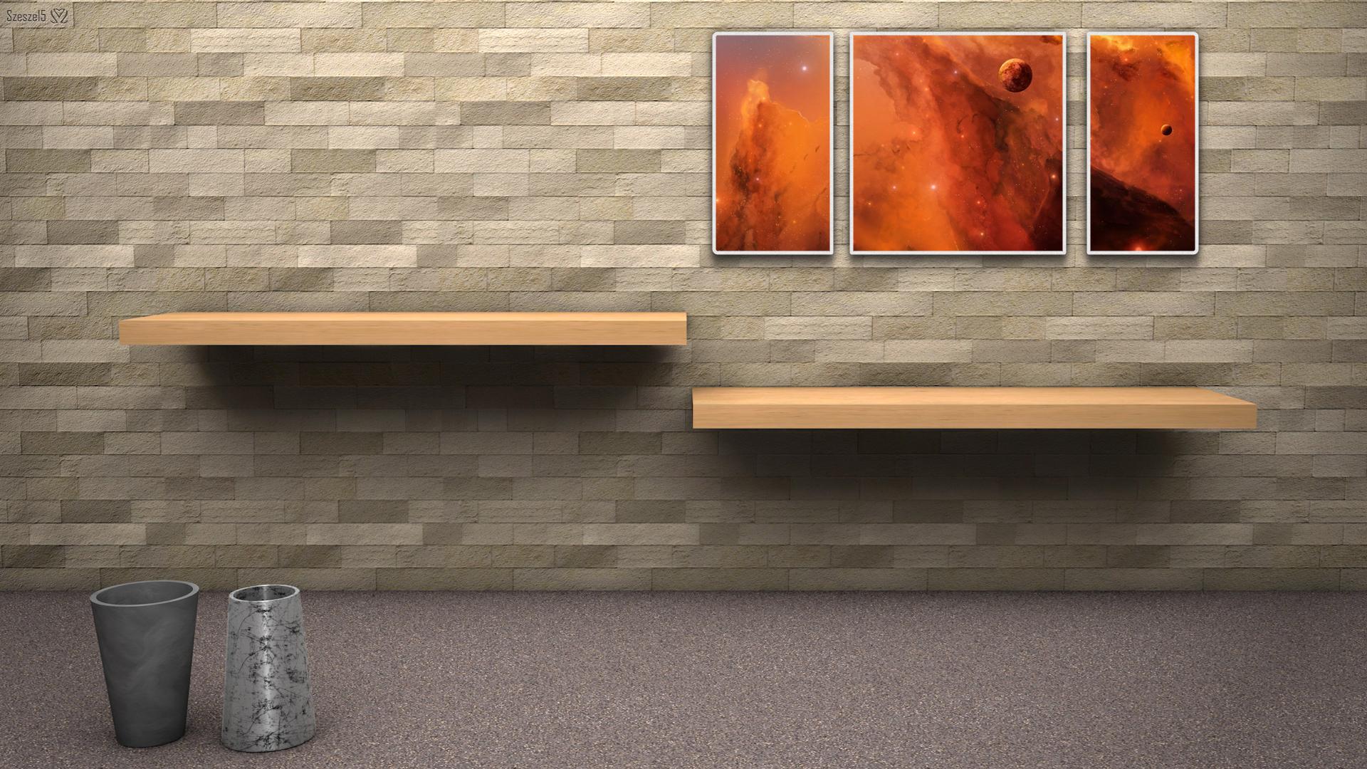 デスクトップ整理を壁紙の工夫で行い仕事効率化しよう 棚や仕切りの無料画像が使えます